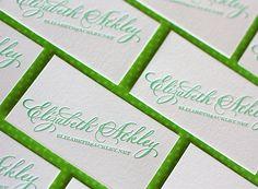 Letterpress Business Card - Elizabeth Ackley