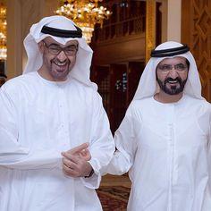 Mohammed bin Zayed bin Sultan Al Nahyan y Mohammed bin Rashid bin Saeed Al Maktoum, 07/2015. Foto: dubaiieye