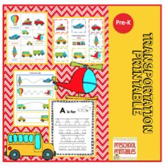 Transportation Printable from Preschool Printables on TeachersNotebook.com (38 pages)