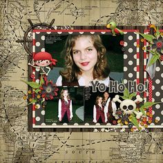 Credits: Ahoy Matey by Kristin Aagard Designs; Scraplift of LoriJ's Layout, Sweet Sisters; Font: KG Lego House