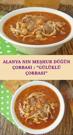 Famous Wedding Soup of Alanya: Gülüklü Soup - Fleisch Lunch Recipes, Meat Recipes, Healthy Recipes, Turkish Recipes, Italian Recipes, Beef Tagine, Beef Chorizo, Hearty Soup Recipes, Turkish Kitchen