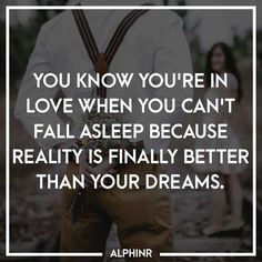 You know you're in love when you can't fall asleep beca at Alphinr How To Fall Asleep, Instagram Story, Dreaming Of You, Love, Quotes, Amor, Quotations, Qoutes, Quote
