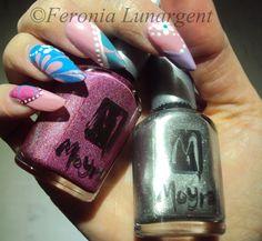 Ma participation au concours Pastels de Julie J'ongle nail art avec les Moyra de chezhttp://www.polishinail.com