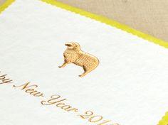 年賀状 golden sheep 文面印刷あり