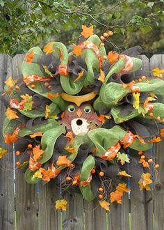 hoot owl deco mesh wreath | CraftOutlet.com Photo Contest