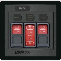 Blue Sea 1147 Remote Control Panel w/(2)2145 & (1)2146 Remote Control Contura Switch