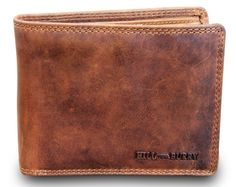 Hill Burry Portefeuille Homme Wallet Purse Pliante Cuirs Buffle Used Look  Marron in Kleidung   Accessoires 846b1c37d57