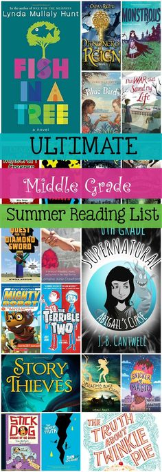 Ultimate summer reading list for middle graders, separated into categories and featuring over 50 books total. Plenty of great books to keep kids reading all summer long! From /pretty/-opinionated Middle School Books, Middle School Libraries, Kids Reading Books, Teaching Reading, Learning, Tween Books, Books For Tweens, Books To Read, My Books