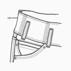 R$ 99,00 Flat Drawings, Flat Sketches, Fashion Sketchbook, Fashion Sketches, Moda Fashion, Denim Fashion, Technical Illustration, Technical Drawings, Jeans Drawing