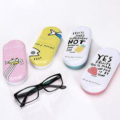 a4a87c8c46d5 Cartoon Eye Glasses Sunglasses Hard Case Box Portable Protector Holder Clam  Box Eye Glasses