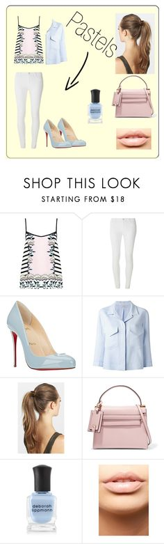 """""""Pastels"""" by tuicat14 ❤ liked on Polyvore featuring Markus Lupfer, Dorothy Perkins, Christian Louboutin, Nina Ricci, France Luxe, Valentino, Deborah Lippmann and MDMflow"""