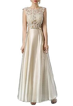 YORFORMALS Lace Appliques Long Prom Dress Round Neck Sati... https://www.amazon.com/dp/B01LXM93K4/ref=cm_sw_r_pi_dp_x_GltiybWS8BD7S