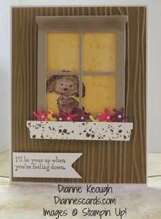 by Dianne: Bella & Friends, Gorgeous Grunge, Hearth & Home Thinlits, Botanical Builder framelits, Woodgrain embossing folder - all from Stampin' Up!