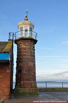 Old lighthouse, The Stone Jetty, Morecambe, Lancashire, England