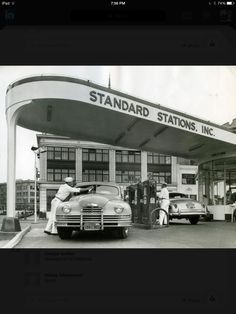 Standard Gas Station and a Packard