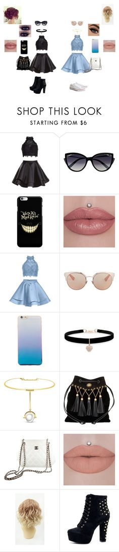 """""""Not sure : /"""" by hannahscheepers ❤ liked on Polyvore featuring Alyce Paris, La Perla, Christian Dior, Betsey Johnson, Miu Miu, Chanel and Topshop"""