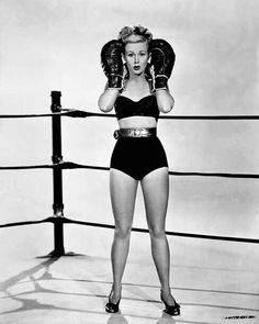 Virginia Mayo boxing
