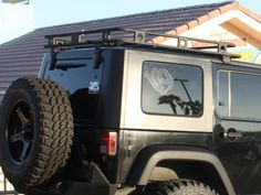 Smittybilt 45454 Defender Roof Rack for Jeep Wrangler Unlimited JK 4 Door Wrangler Jk, Jeep Wrangler Unlimited, Jeep Rubicon, Solar Energy, Renewable Energy, 2016 Jeep, Jeep Parts, Roof Styles, Roof Architecture