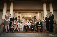 The Bride Wore a Daisy Buchanan-Inspired Look at this Themed Fairmont Hotel Vancouver Wedding - WedLuxe Magazine Gatsby Wedding, Art Deco Wedding, Bridesmaids, Bridesmaid Dresses, Fairmont Hotel, Fairytale Weddings, Vancouver, Studios, Daisy