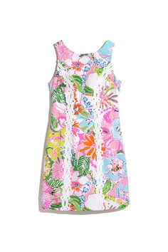 LillyPulitzerforTarget Pink, Green, White and Blue Printed Shift Dress