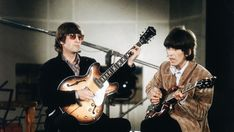 The Beatles during 'Paperback Writer' and 'Rain' recording session, April 1966. © Robert Whitaker