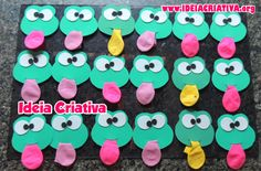 Lembrancinha Sapinho com Bexiga Spring Treats, Letter F, Foam Crafts, Student Gifts, Animal Party, Craft Party, Fun Learning, Children, Kids