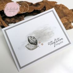 Trauerkarten Karten Diy, Card Sketches, Masculine Cards, Sympathy Cards, Card Tags, Stampin Up Cards, Hand Lettering, Cardmaking, Homemade