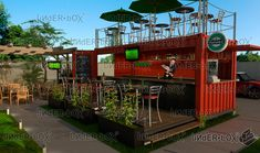 BOX 01 - Restaurante Bar con Terraza Superior contenedores maritimos