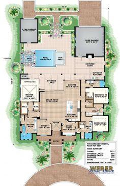 Barbados   Olde Florida Floor Plan | By Weber Design Group