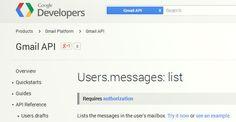 ATTENTION : Google lance une API Gmail pour donner accès à vos e-mails !