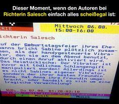 Dieser Moment, wenn den Autoren bei Richterin Salesch einfach alles scheißegal ist!