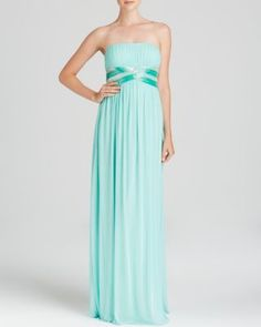 JS Collections Gown - Embellished Waist | Bloomingdale's