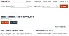 We at Herman Herman & Katz, LLC are committed to helping you regain your life after a tragic events. http://www.elocallawyers.com/profile/herman-herman-katz-cotlar-17001921#!/tab=about