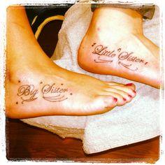 Sister Tattoo. Yes it hurt!
