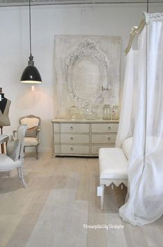 The Dreamy Bedroom Furniture of Eloquence French Country Interiors, Country Interior Design, French Country Bedrooms, Interior Design Living Room, White Interiors, Living Furniture, Bedroom Furniture, Luxury Furniture, Furniture Ideas