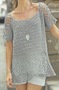Handmade crochet top, blouse, summer tunic, summer beach dress crochet clothes MADE TO ORDER Crochet With Cotton Yarn, Crochet Jacket, Crochet Cardigan, Knit Crochet, Crochet Tops, Summer Tunics, Loose Knit Sweaters, Crochet Woman, Jacket Pattern