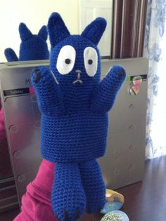 Handmade puppet inspired by peg plus cat. by VickyyEmma on Etsy