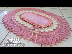 Tapete ousadia parte final - YouTube Crochet Home Decor, Crochet Crafts, Diy And Crafts, Crafts For Kids, Crochet Table Runner, Crochet Mandala, Crochet Videos, Crochet Designs, Rugs On Carpet