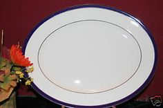 """Lenox Federal Cobalt Platinum 13"""" Serving Platter NIB.  Cobalt line was discontinued in 2007, so now it's only available on ebay, replacements.com, etc.  Would like the 13"""" or 16"""" platter."""