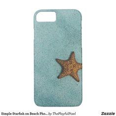 Simple Starfish on Beach Photo iPhone 8/7 Case - A cute case for beach lovers.