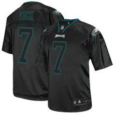 ... Nike Philadelphia Eagles  7 Michael Vick Elite Grey Shadow Jersey   129.99