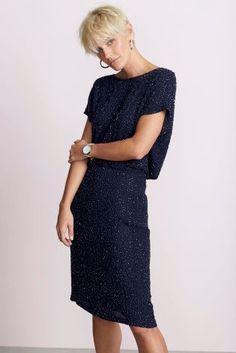 Black sheer sleeve shift dress next