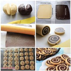 Spiral cookies in black and white- Spiral cookies in black and white Source by - Biscuits, Delicious Desserts, Yummy Food, Chocolate Spoons, Perfect Cookie, Brownie, Turkish Recipes, Yummy Cookies, Holiday Cookies