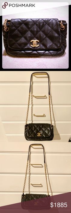 f88081408cae Chanel classic flat 2011 calfskin shoulder bag From the spring/summer 2011  collection quilted calfskin