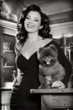 Fran Drescher with her dog