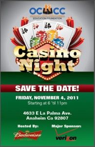O.C. Hispanic Chamber of Commerce Education Foundation plans Nov. 9 Casino Night fundraiser