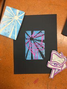 Linoleum Prints (8th grade)