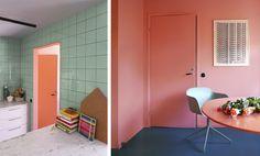 bathroom-inspo_badrum-inspiration_rosa-turkos-ljusblå_kakel_diagonal-sättning_photo-Tekla-Evelina--Severin_via-Sign-Unseen_rund-spegel_badrumsdrömmar_6