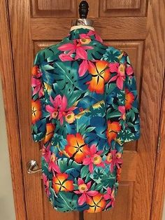 c281561f De Colección hilo Hattie que empareja su ella Camisa Hawaiana Para hombre L  Para Mujer S Hibiscus Surfista