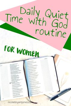This daily quiet time with God routine is just what youve been looking for. This daily quiet Bible Prayers, Bible Scriptures, Christian Women, Christian Life, Christian Living, Bible Study Plans, Bible Encouragement, Faith Prayer, Spiritual Growth